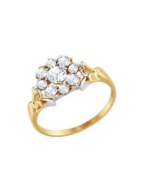 Nhẫn vàng đính đá Swarovski Zirconia 81010319