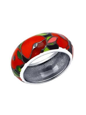 Nhẫn bạch kim 925, có đính đá enamel - 94011935
