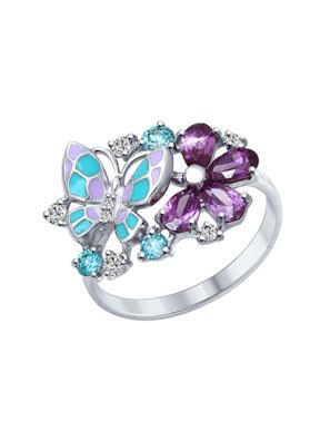 Nhẫn bạch kim 925, có đính đá cz, enamel - 94012320