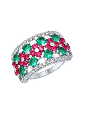 Nhẫn bạch kim 925, có đính đá cz - 94012434