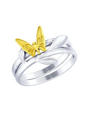 Nhẫn bạch kim 925, không đính đá - 94012522