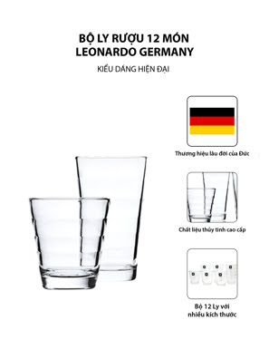 Bộ ly rượu 12 món Leonardo Germany - 011019